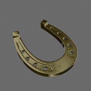 3d horseshoe silver golden