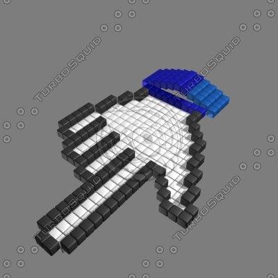 windows hand pointer 3d model