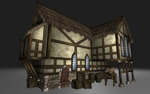 3d model of medieval pack house