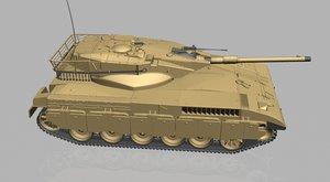 3d model merkava tank