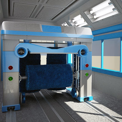 3d model of automatic car wash