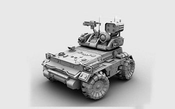 armed military vehicle 3d model