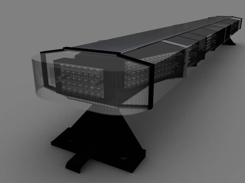 3d police led lightbar