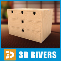chest drawers mini 3d max