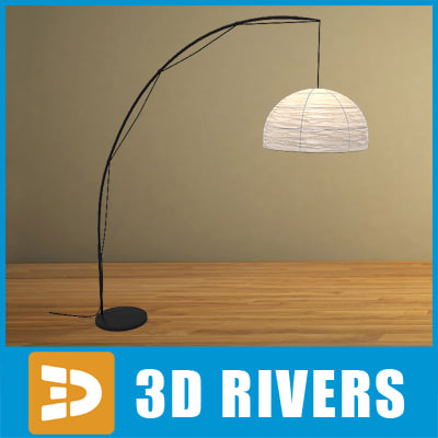 floor lamp lights 3d model