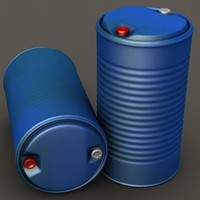 3d model of plastic barrel 01