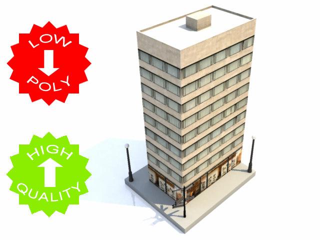 3d building cities traffic model