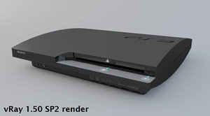 ps3 slim playstation 3 3d model