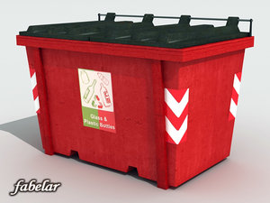 max glass recycle bin
