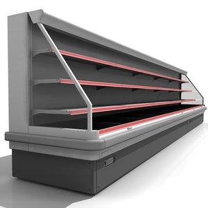 supermarket refrigerator 3d model