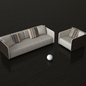3d model furniture rolf benz 6900