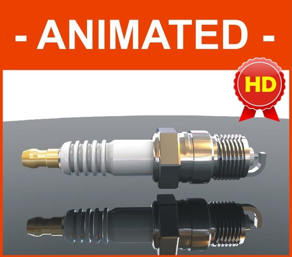 spark plug parts animation max