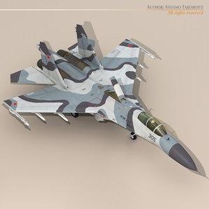 3d su-27 flanker jet fighter model