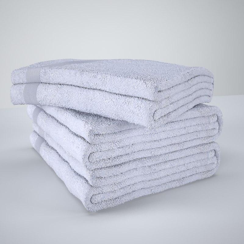 3d model towel bath bathtowels