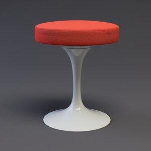 3d c4d tulip stool design chairs