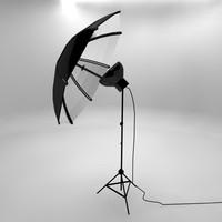 3d model umbrella light