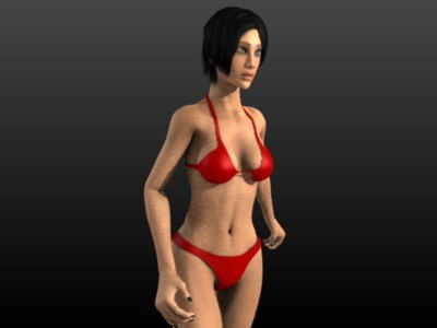 3d rigged female