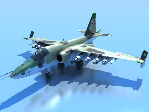 su-25 t 3d model