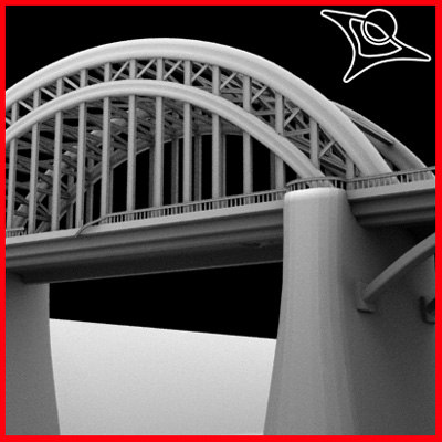 3d model old bridge