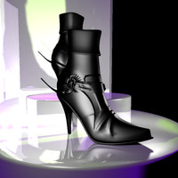 free female shoe 3d model