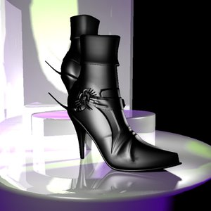 free female shoe 3d model