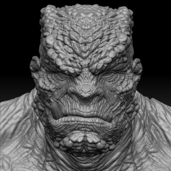 obj monster maps zbrush