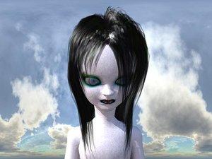 free little girl 3d model