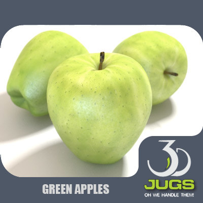 3d mr green apple model