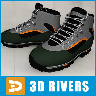 3d athletic shoes model
