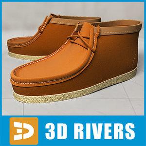 boat shoes 3d 3ds