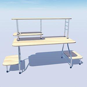 3ds stylish office computer desk