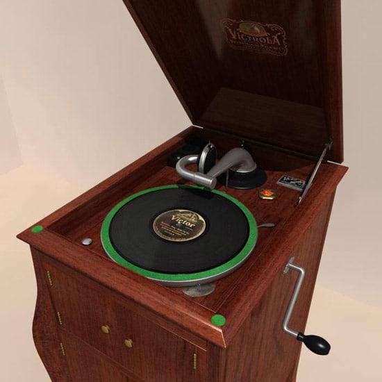 gramophone 1909 3d max