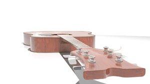 string acoustic guitar 3d model