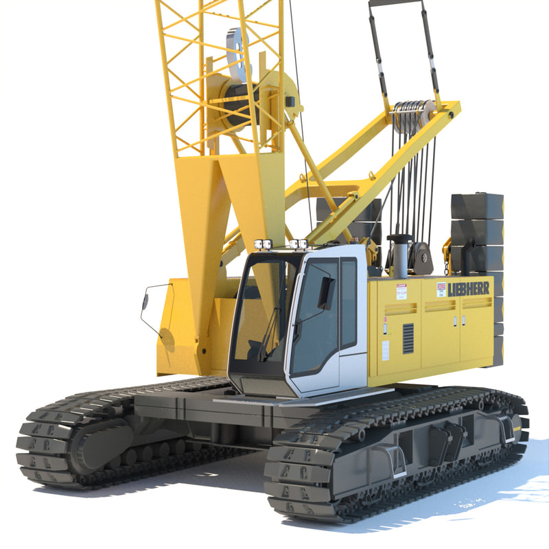 3d liebherr crane model