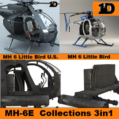 helicopter mh little bird 3d model