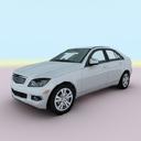 2009 mercedes c class 3d model