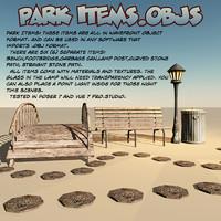 3d model park items