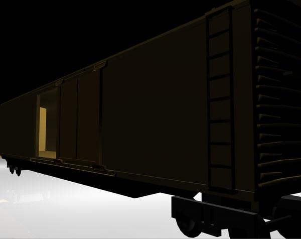 obj cargo train car