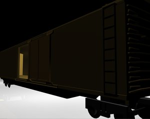 obj cargo train car