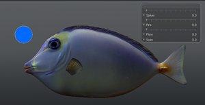 naso tang marine fish obj free