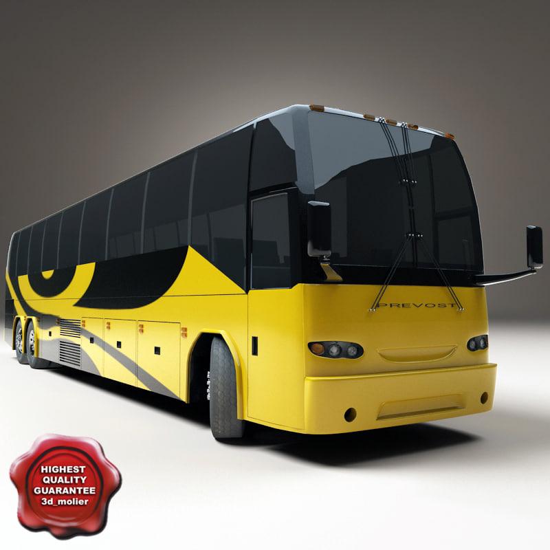 maya realistic prevost bus