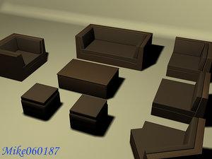 furniture armchair sofa chair 3d model