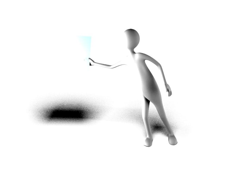 3d model stick figure