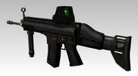 Assault Rifle with Holographic Sight