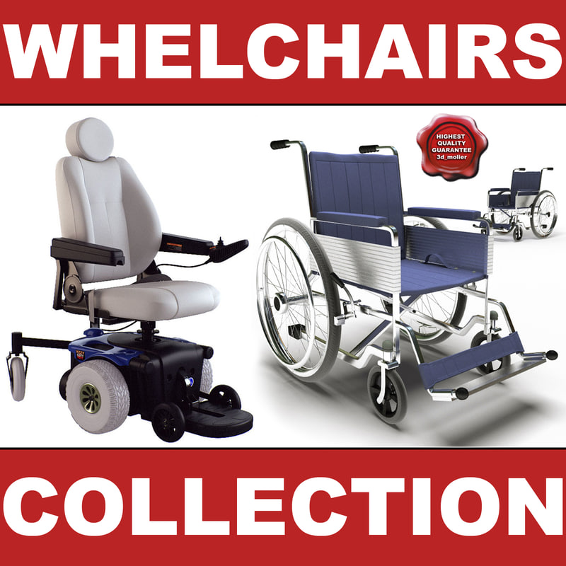 wheelchairs set modelled max