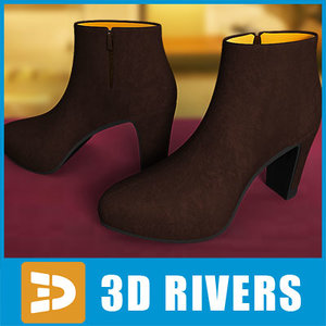 3ds max woman women shoes