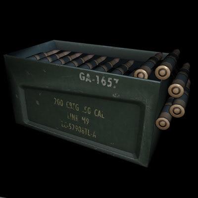 3d bullet box machine gun