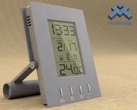 3ds max photorealistic digital alarm clock