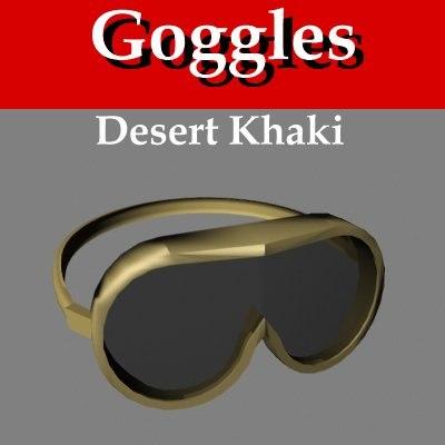3d military goggles desert