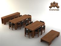 furniture set 3d 3ds
